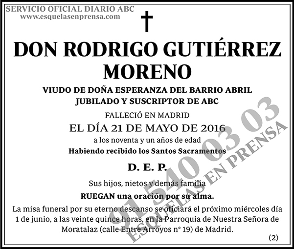 Rodrigo Gutiérrez Moreno
